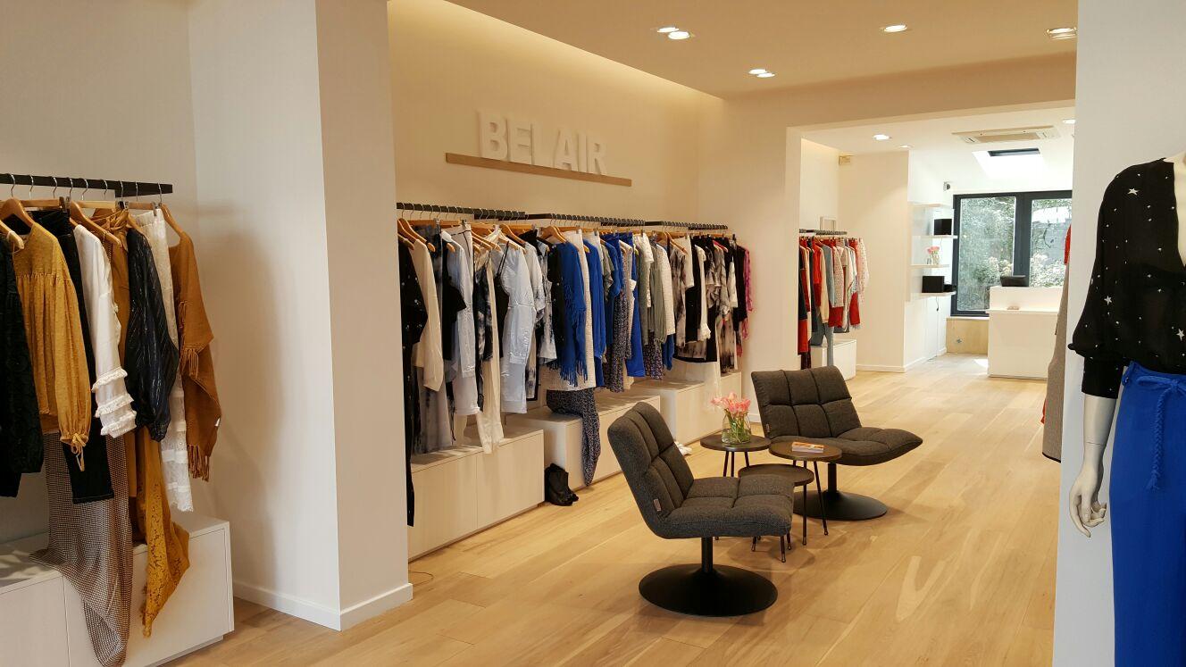 Intérieur boutique Belair Paris