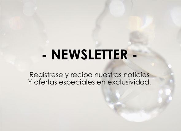 NEWSLETTER - Regístrese y reciba nuestras noticias Y ofertas especiales en exclusividad