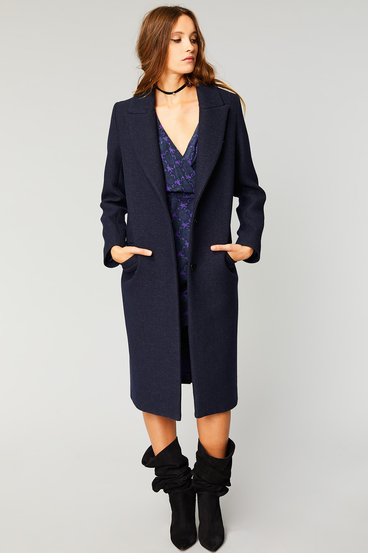 54f5bf6dd049 Manteau long en drap de laine - MORNING
